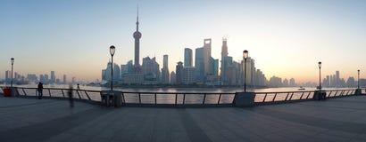 Shanghai lujiazui i morgonen royaltyfri fotografi