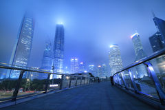 The Shanghai Lujiazui landmark long exposure night scene Royalty Free Stock Images