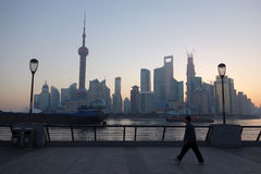 Shanghai lujiazui in the morning Stock Image