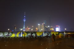 Shanghai lujiazui at night Royalty Free Stock Photo
