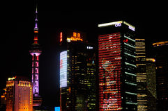 Shanghai Lujiazui Night Scene stock images