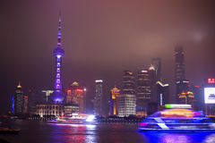 Shanghai lujiazui at night Royalty Free Stock Image