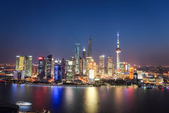 Shanghai lujiazui night view Royalty Free Stock Image