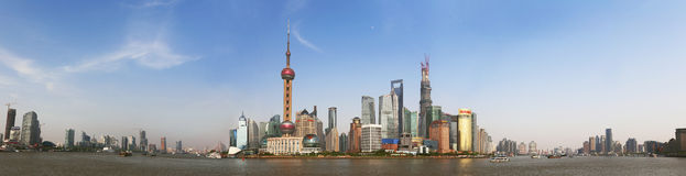 Shanghai Lujiazui panoramic. Shanghai Lujiazui Panorama Stock Photo