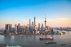 Shanghai lujiazui panoramic view Stock Photo
