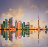 Shanghai Lujiazui skyline at landscape. In China Royalty Free Stock Images
