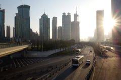 Shanghai lujiazui at sunrise Royalty Free Stock Image