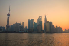Shanghai lujiazui at sunrise Stock Photo