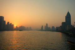 Shanghai lujiazui at sunrise Stock Images