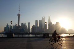 Shanghai lujiazui at sunrise Royalty Free Stock Images