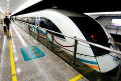 Shanghai Maglev drev - Shanghai Transrapid royaltyfri bild