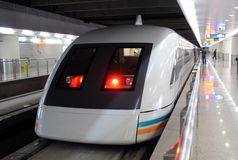 Shanghai Maglev Train ready to go Royalty Free Stock Photo