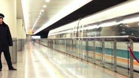 Shanghai Maglev Train - Shanghai Transrapid stock video