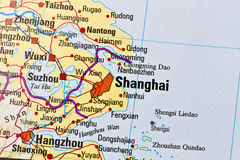 Shanghai map Stock Images