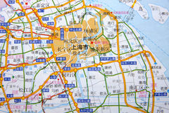 Shanghai on the map Royalty Free Stock Image