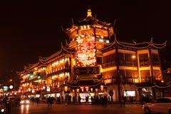 Shanghai Market View. China 2014 Shanghai Center - Market at night Royalty Free Stock Images