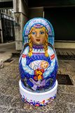 Shanghai Matryoshka Sculpture. Shanghai Moganshan Art District Russian Matryoshka Doll Sculpture Nobody Close Up royalty free stock image