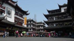 Shanghai - mercado do turista de Yuyuan video estoque
