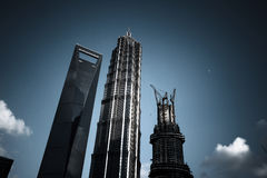 Shanghai mest högväxt skyskrapa Arkivbilder