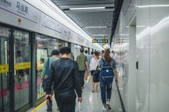 Shanghai Metro, China. SHANGHAI, CHINA - MAY 05, 2016: Shanghai metro Royalty Free Stock Images