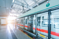 Shanghai Metro. Docked at the site of the Shanghai Metro, no scenes Royalty Free Stock Photo