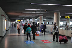 Shanghai Metro Station. Photo taken at 20th of November 2010 Stock Images
