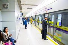 Shanghai metro station, China Royalty Free Stock Photography