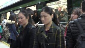 Shanghai Metro train China stock video