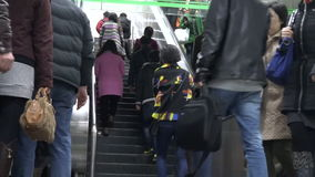 Shanghai Metro train China stock footage