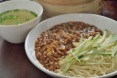 Shanghai minced noodle Royalty Free Stock Photography