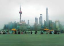 Shanghai mitt Arkivfoton