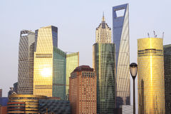 Shanghai Modern Architectural evening landscape Stock Images