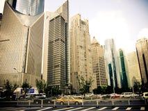 Shanghai modern arkitektur Arkivfoton