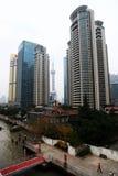 Shanghai modern building skyline Stock Photos