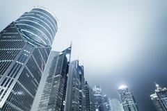 Shanghai modern financial buildings skyline Royalty Free Stock Image