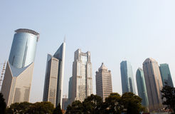 Shanghai-moderne Gebäude Stockfoto