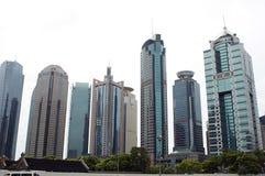 Shanghai - moderner Wolkenkratzer Stockfotos