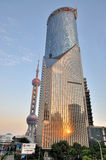 Shanghai morden building and oriental pearl tower Royalty Free Stock Image