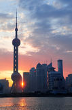 Shanghai morning sunrise Royalty Free Stock Image