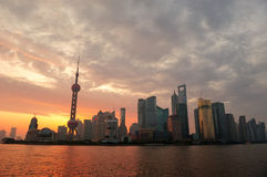 Shanghai morning sunrise Royalty Free Stock Photo