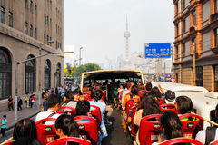 Shanghai is the most popular city in China Stock Image