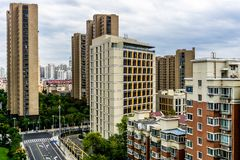 Shanghai Highrise Apartment Building 4 royalty free stock images