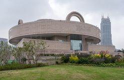 Shanghai Museum of Chinese Art building exterior stock images