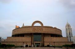 Shanghai-Museum an einem bewölkten Tag stockbilder