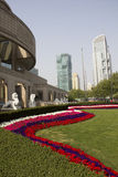 Shanghai museum and modern buildings Stock Image
