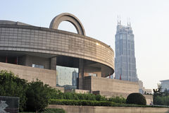 Shanghai Museum at sunset. The famous scenic spots in Shanghai ,Shanghai Museum Stock Images