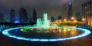 Shanghai musical fountain Night Stock Photography