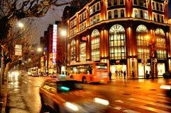 Shanghai-Nacht Lizenzfreie Stockfotos