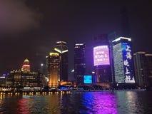 Shanghai-Nacht Lizenzfreie Stockbilder