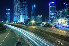 Shanghai nachts Lizenzfreie Stockfotos